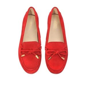 Micheal Korda Red Suede Loafer